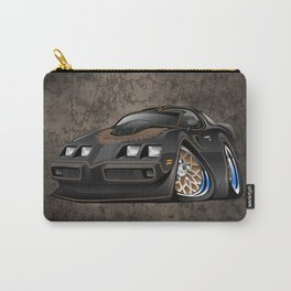 Classic '70s American Muscle Car Cartoon Carry-All Pouch
