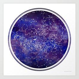 Star Map IV Art Print