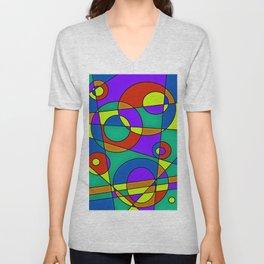 Abstract #61 Unisex V-Neck