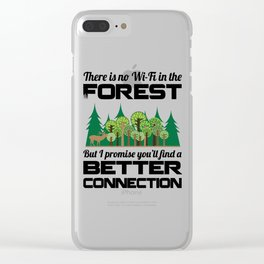 Forest Quote Clear iPhone Case