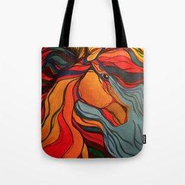 Wild Horse Breaking Free Southwestern Style Tote Bag
