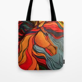 Wild Horse Breaking Free Southwestern Style Tote Bag
