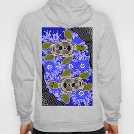 Authentic Aboriginal Art - Sea Turtles Hoody