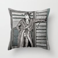cowboy Throw Pillows featuring Cowboy by Design Windmill