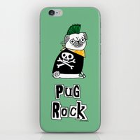 hiphop iPhone & iPod Skins featuring Pug Rock by gemma correll