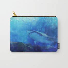 Make Way for the Great White Shark King  Carry-All Pouch