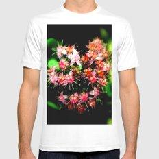 Cacti (Cactaceae) MEDIUM White Mens Fitted Tee