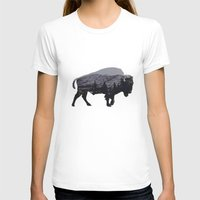 american T-shirts featuring The American Bison by Davies Babies