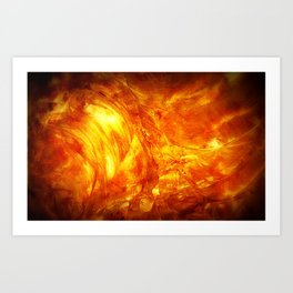 Surface Of The Sun - Leo - Science - Hipster - Hot Art Print