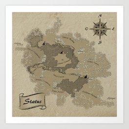 Mythos : Carte Globale Art Print