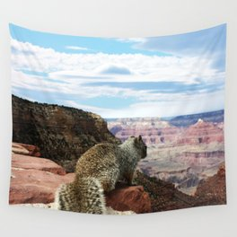 Squirrel Overlooking Grand Canyon Wall Tapestry
