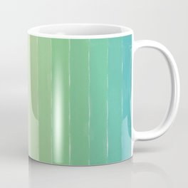Shades of Ocean Water - Abstract Geometric Line Gradient Pattern between See Green and White Coffee Mug