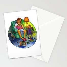 The Joy of Parenting - Tired Mom Stationery Cards