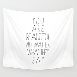 You Are Beautiful Wall Tapestry