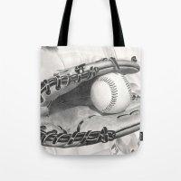 baseball Tote Bags featuring Baseball by aurelia-art