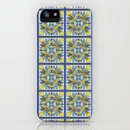 South Italian Vintage Majolica Tiles iPhone Case