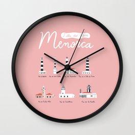 Menorca, s'illa des 7 fars Wall Clock