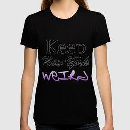 Keep New York Weird in Graffit Style T-shirt