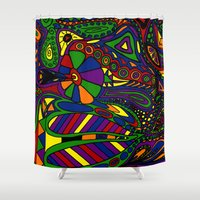 psychadelic Shower Curtains featuring Psychadelic by Groolya