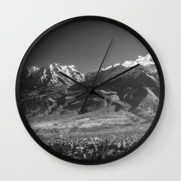 City of Arequipa in Peru with its iconic volcano Chachani Wall Clock