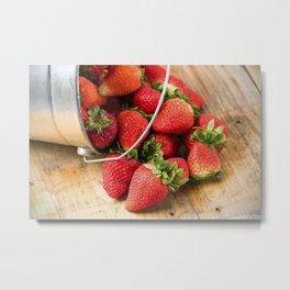 Fresh Strawberries 1 Metal Print