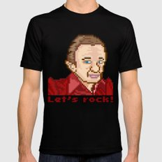 Let's rock! (Man From Another Place Pixel Art)  MEDIUM Black Mens Fitted Tee