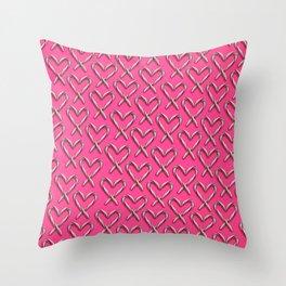 Sucker for Christmas Throw Pillow