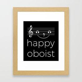 Happy oboist (dark colors) Framed Art Print
