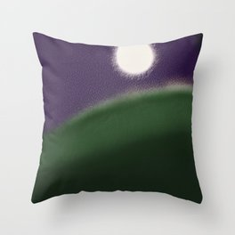 Fatness of the moon Throw Pillow