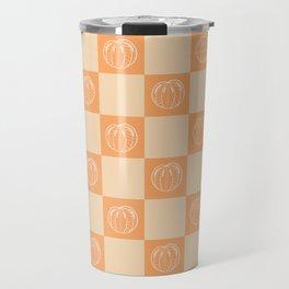 Tangerine Pattern Travel Mug