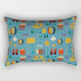 beach gear blue Rectangular Pillow