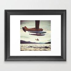 Fly me to Alaska Framed Art Print
