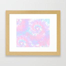 Cotton Candy Tie-Dye Framed Art Print
