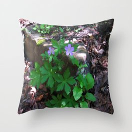 Flowers by the Falls Throw Pillow