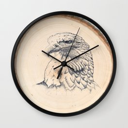 Eagle on Wood Wall Clock