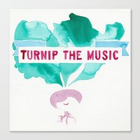 pun Canvas Prints featuring TURNIP PUN by Connie Cann
