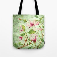 magnolia Tote Bags featuring Magnolia by CatDesignz