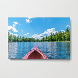 Just Keep Paddling Metal Print