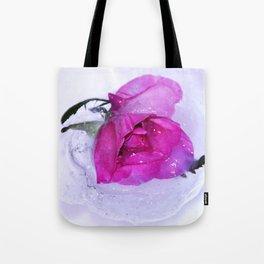 Frozen floating roses Tote Bag
