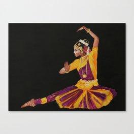 Bharathanatyam Dancer Canvas Print