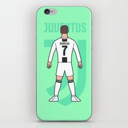 Cristiano arrives in Turin iPhone Skin