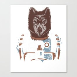 Awesome Wolf Astronaut Outer Space Nerdy Rocket Science Canvas Print