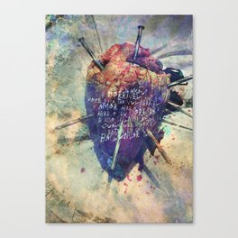 Damaged Heart Canvas Print