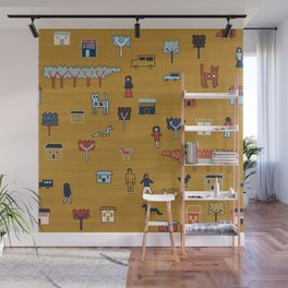 Citta in Gold Wall Mural