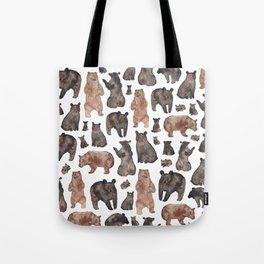 Woodland Bear Pattern Tote Bag