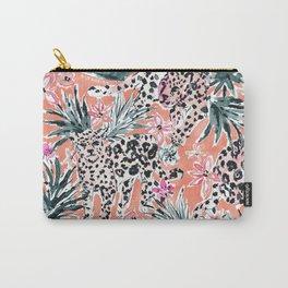 JESSI'S JAGUAR JUNGLE Safari Print Carry-All Pouch