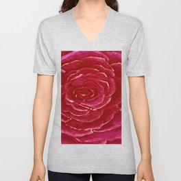 Red Rose Close Unisex V-Neck