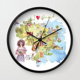 Brasil Map Wall Clock
