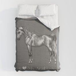 Dapple Gray Horse I Love My Arabian Comforters