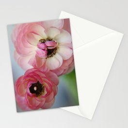 Pink Ranunculus Flower Stationery Cards